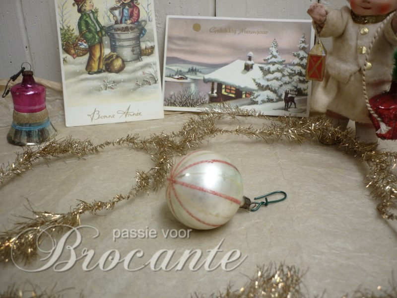 Old vintage glass Christmas bauble
