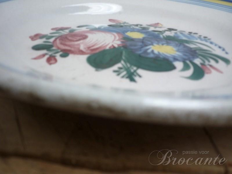Antiek Frans aardewerk bord