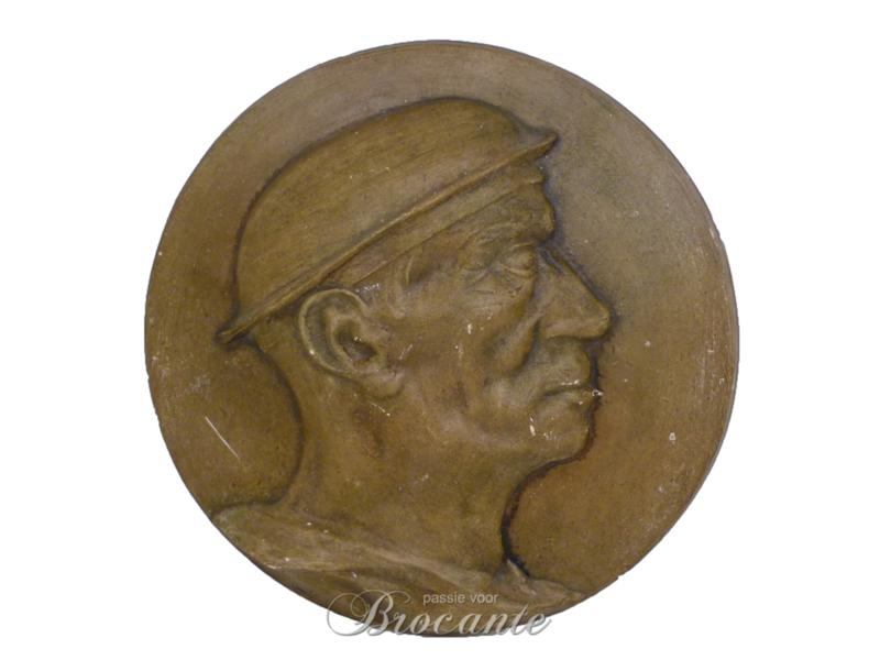 Paaster plaquette - de mijnwerker - de mineur