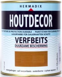 Hermadix Houtdecor  Verfbeits Dekkend - Zwart 620 - 0,75 liter