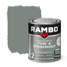 Rambo Tuin & Steigerhout - Stoer Antraciet 1148 - 0,75 liter