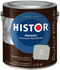 Histor Perfect Effect Metallic Muurverf - Beton 6954 - 2,5 liter