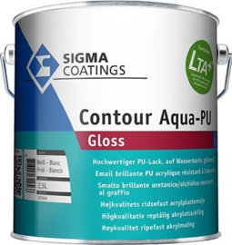 Sigma Contour Aqua PU Gloss - RAL 9005 Zwart - 2,5 liter