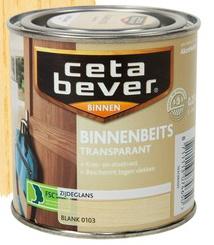 Cetabever Binnenbeits Zijdeglans Transparant - Rood - 0,25 liter