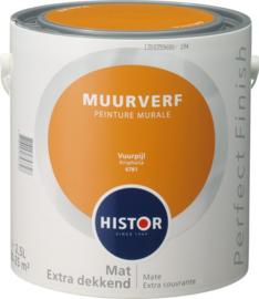 Histor Perfect Finish Muurverf Mat - Vuurpijl 6981 - 2,5 Liter