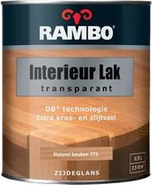 Rambo Interieur Lak Transparant Zijdeglans - Donker noten 753 - 0,75 liter