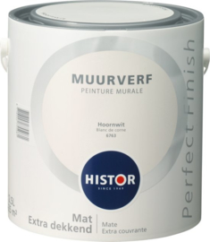 Histor Perfect Finish Muurverf Mat - Hoornwit 6763 - 2,5 Liter