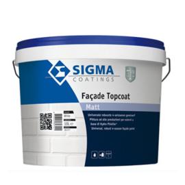 Sigma Facade Topcoat Matt - Wit - 10 liter