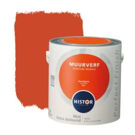 Histor Perfect Finish Muurverf Mat - Vermiljoen 6977 - 2,5 Liter