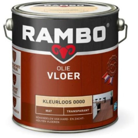 Rambo Vloer olie - Kleurloos 0000 Mat Transparant - 0,75 liter