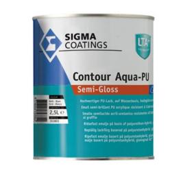 Sigma Contour Aqua PU Semi Gloss - RAL 9005 Zwart - 2,5 liter