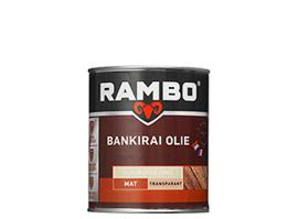 Rambo Bankirai Olie Transparant - Kleurloos 0000 - 0,75 liter