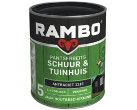 Rambo Dekkende Pantserbeits Schuur & Tuinhuis Zijdeglans - RAL 9001 - 0,75 liter