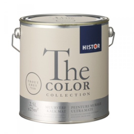 Histor The Color Collection - Trout Grey 7518 Kalkmat - 2,5 liter