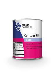 Sigma Contour PU Matt - Wit - 5 liter