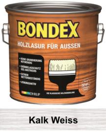 BONDEX Transparante Beits voor buiten - Kalk Wit - 2,5 liter