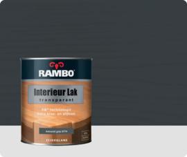 Rambo Interieur Lak Transparant Zijdeglans - Antraciet grijs 774 - 0,75 liter