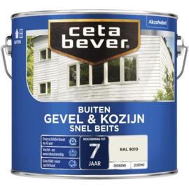 Cetabever Buiten Gevel & Kozijn Snel beits Dekkend Zijdemat - Wit - 0,75 liter