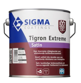 Sigma Tigron Extreme Satin - Wit - 2,5 liter