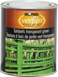 De Parel Tuinbeits Transparant Groen - 0,75 liter