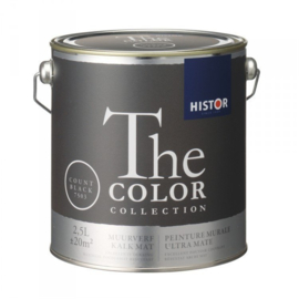 Histor The Color Collection - Count Black 7503 Kalkmat - 2,5 liter