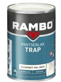 Rambo pantserlak trap - Cremewit RAL 9001 Zijdeglans Dekkend - 0,75 liter