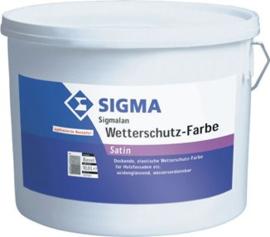 Sigma Wetterschutz Farbe - Wit - 12,5 liter - Dekkende acryl beits