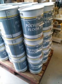 POLYURETHAAN COATING LICHT GRIJS - Alkyd metaalbescherming - kras en slijtvast 20 liter