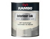 Rambo Interieur Lak Transparant Mat - Antraciet grijs 774 - 0,75 liter