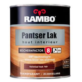 Rambo Pantser Lak Hout Interieur Dekkend Zijdeglans - Grijs wit 5013 / RAL 9002 - 0,75 liter