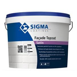 Sigma Facade Topcoat Satin - Wit - 5 maal 10 liter