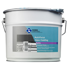 Sigma Multifinish Aqua Cladding Satin - WIT -  3 maal 10 liter