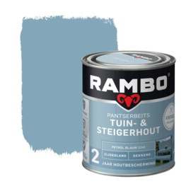Rambo Tuin & Steigerhout - Petrol blauw 1142 - 0,75 liter