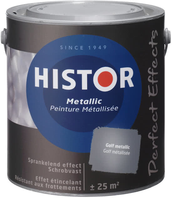 Histor Perfect Effect Metallic Muurverf - Grind 6962 - 5 maal 2,5 liter