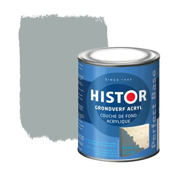 Histor Grondverf Acryl - Grijs - 0,25 liter