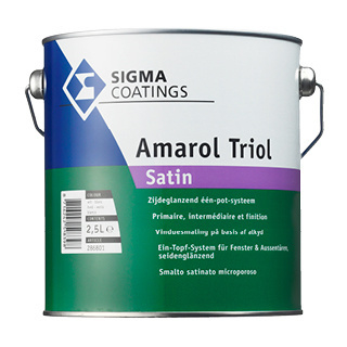 Sigma Schakelverf Amarol Triol Satin - Wit - 1 liter