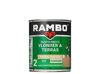 Rambo Pantserbeits Blondere & Terras Transparant Mat - Naturel Teak 1220 - 1 liter