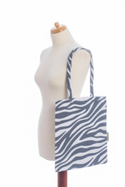Shopping Bag - Zebra Graphite and White