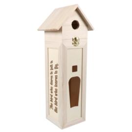 Wijnkist vogelhuis