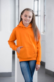 Neon capuchonsweater met naam