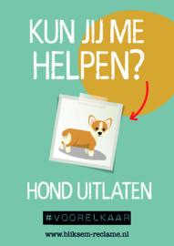 Poster Hond uitlaten