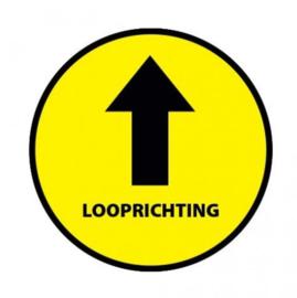 Ronde vloersticker looprichting