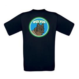 Tshirt wolvenlogo met naam