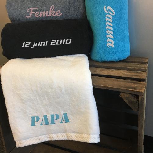 Badlaken met naam - Vaderdag