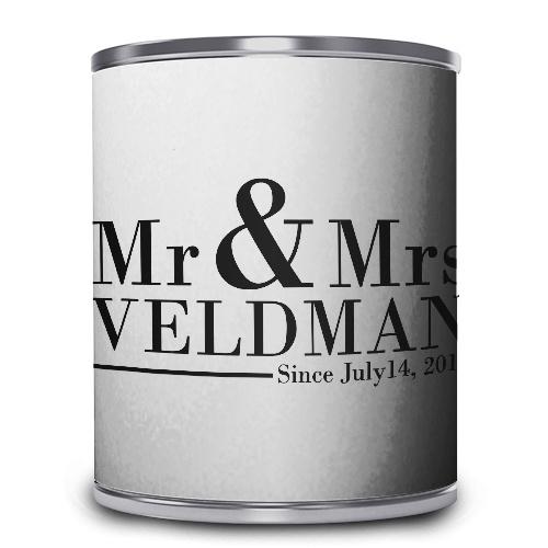 Snoepblik - Mr & Mrs