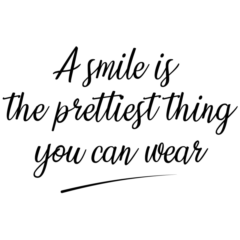 Deur- of muursticker smile