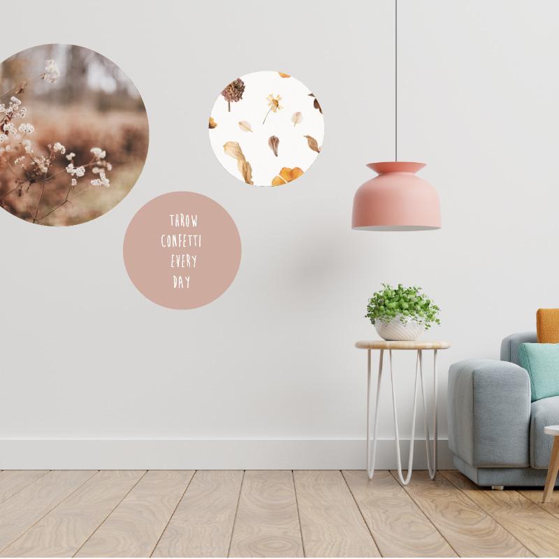 Muursticker cirkel met eigen foto of print