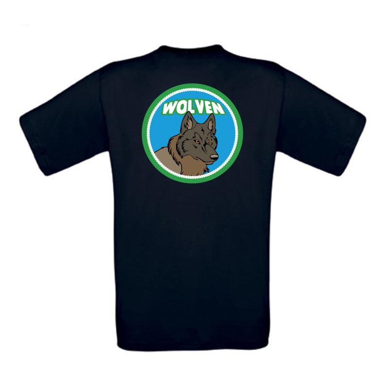 Kids Tshirt wolvenlogo met naam