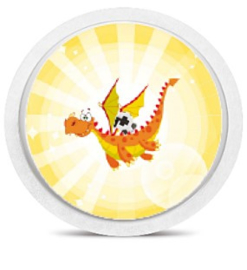 Freestyle Libre Sensor Sticker - Dragon