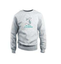 Sweater - Unicorn Grau
